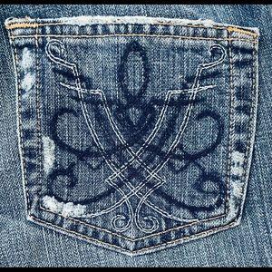 Buckle BKE Element 19 Boot Cut Jeans Size 27 X 32